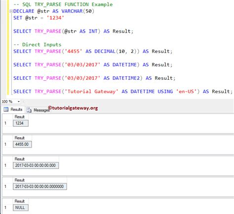 SQL TRY_PARSE Function