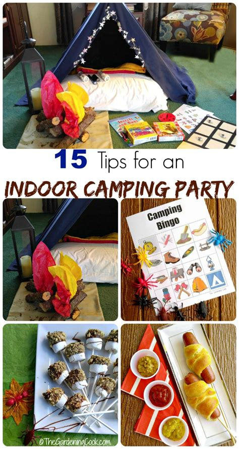 Indoor Camping Party - 15 Fun Tips and Activitites